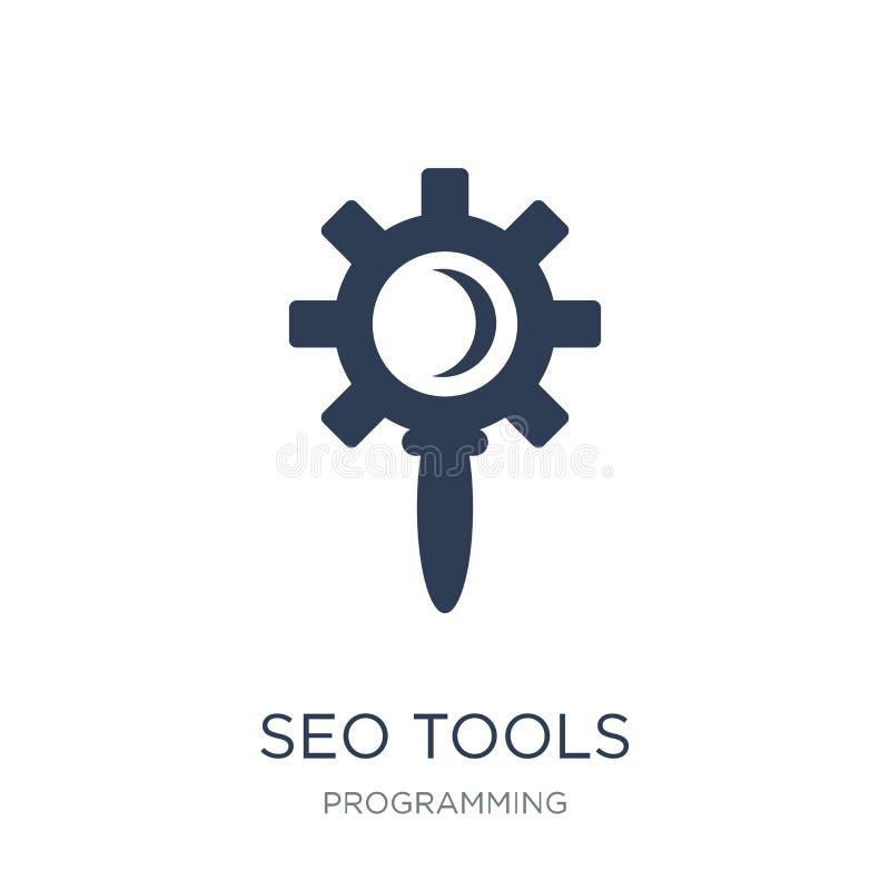 Icono de Seo Tools Icono plano de moda de Seo Tools del vector en el backg blanco ilustración del vector