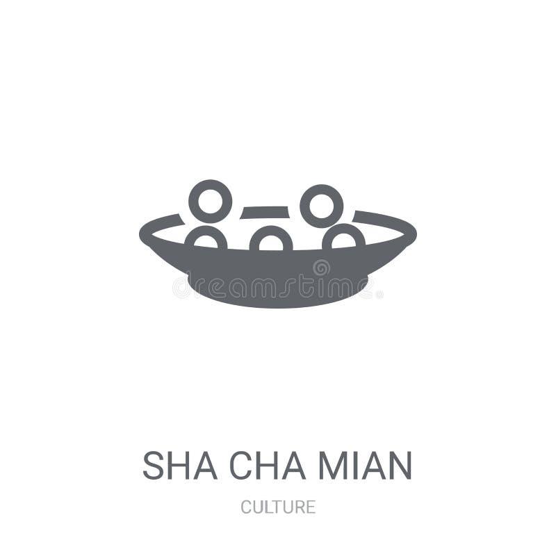 Icono de Sha Cha Mian  stock de ilustración