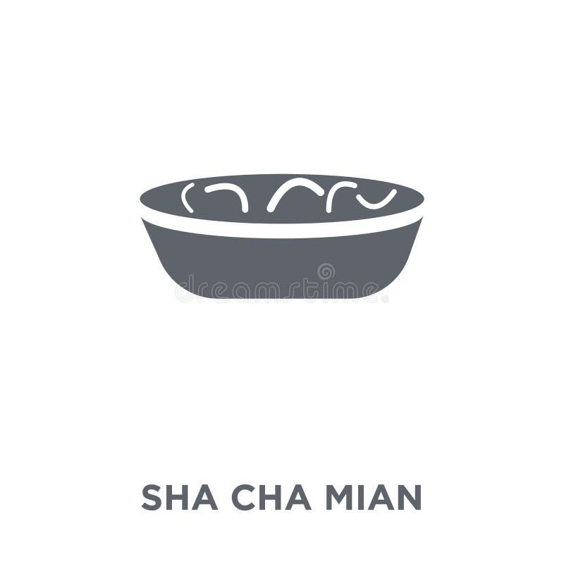 Icono de Sha Cha Mian de la colección china de la comida ilustración del vector