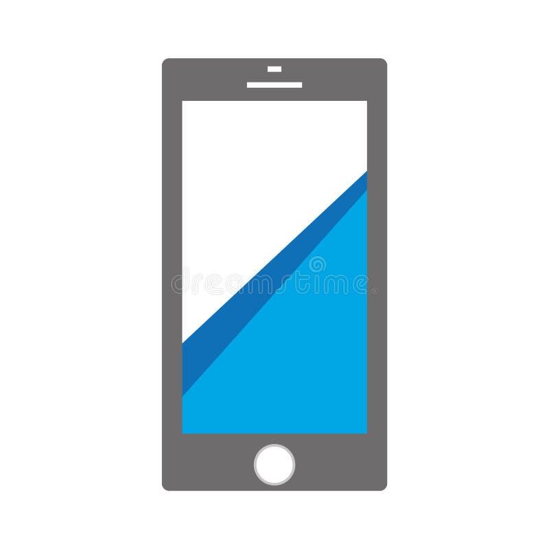 Icono de Smartphone con las líneas azules en muestra del teléfono móvil de la pantalla Vector eps10 del icono de la llamada del c libre illustration