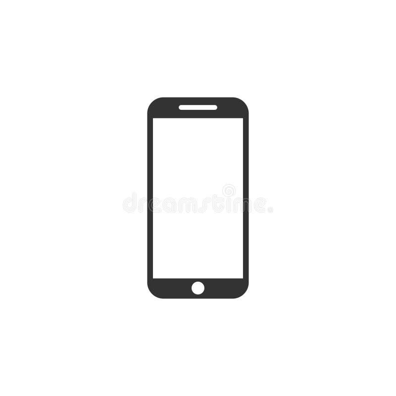 Icono de Smartphone en dise?o simple Ilustraci?n del vector stock de ilustración