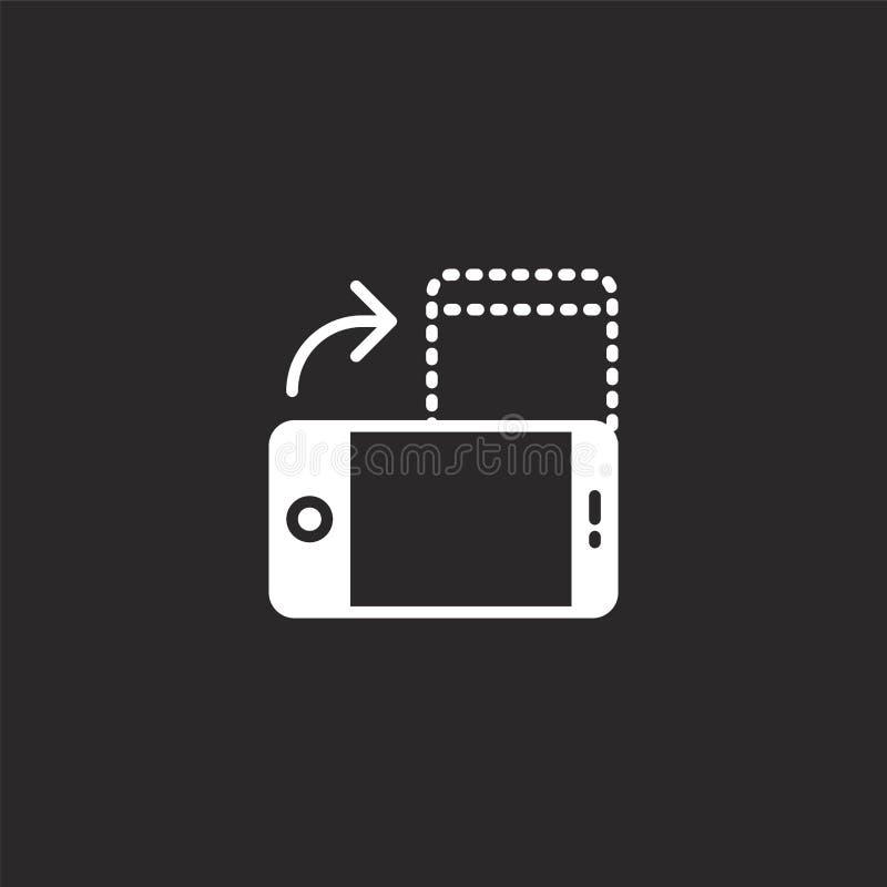 Icono de Smartphone Icono llenado del smartphone para el diseño y el móvil, desarrollo de la página web del app icono del smartph stock de ilustración