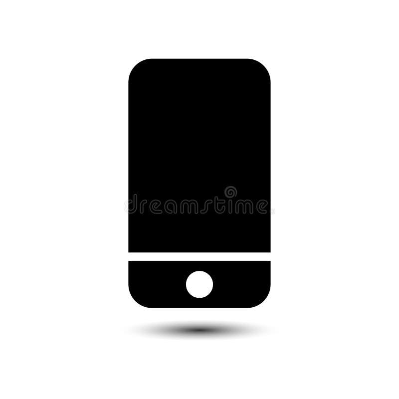 Icono de Smartphone y fondo blanco stock de ilustración