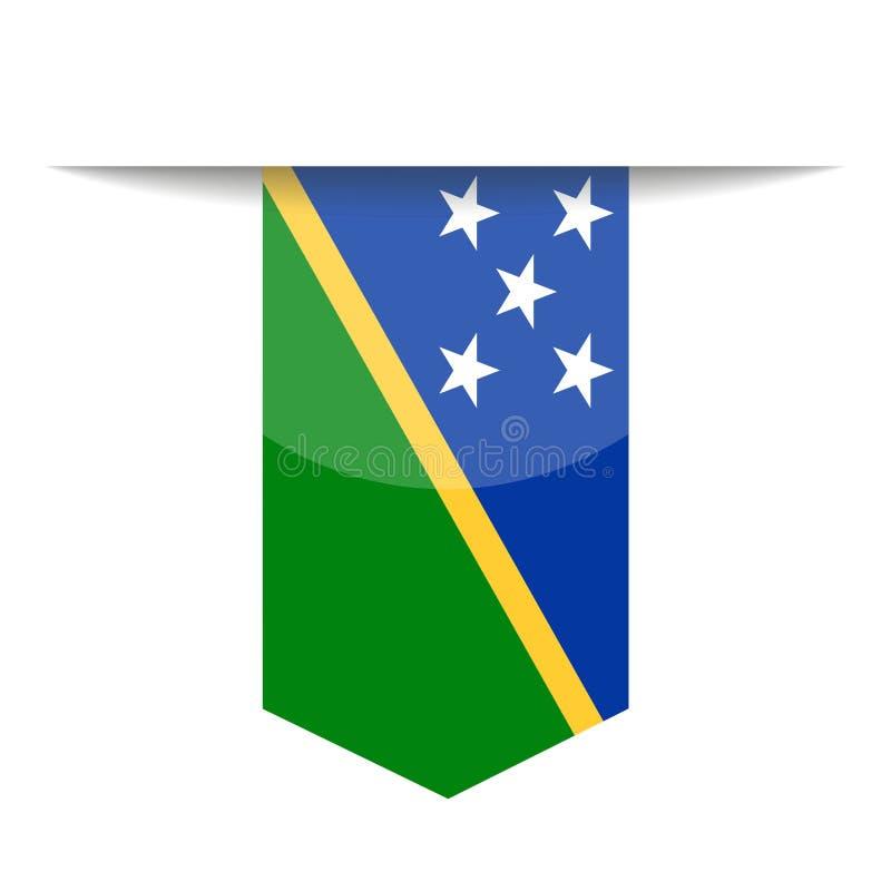 Icono de Solomon Islands Flag Vector Bookmark ilustración del vector