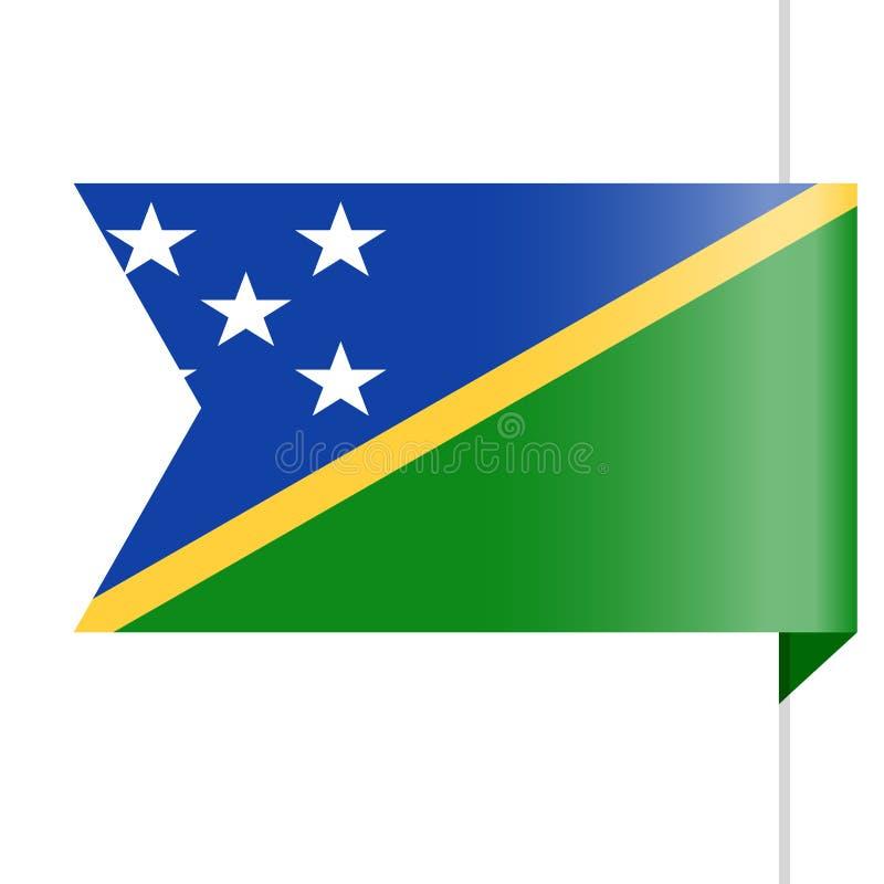 Icono de Solomon Islands Flag Vector Bookmark libre illustration