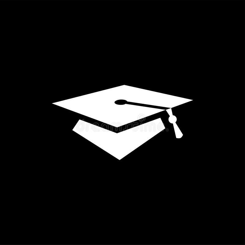 Icono De Sombrero De Graduación En Fondo Negro Ilustración De Vectores De  Estilo Negro Plano Ilustración del Vector - Ilustración de icono, academia:  168421486