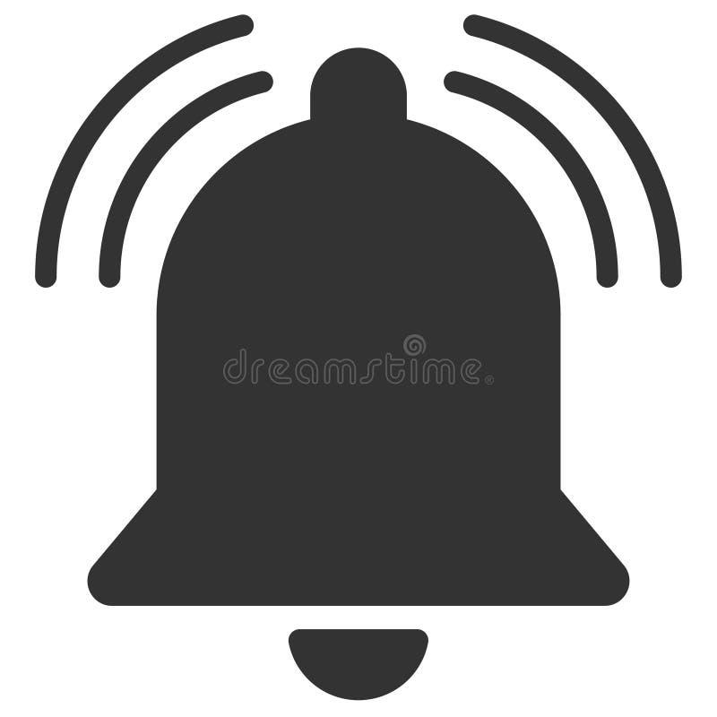 Icono de sonido de la campana de la diversión stock de ilustración