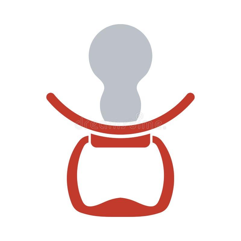 Icono de Soother ilustración del vector