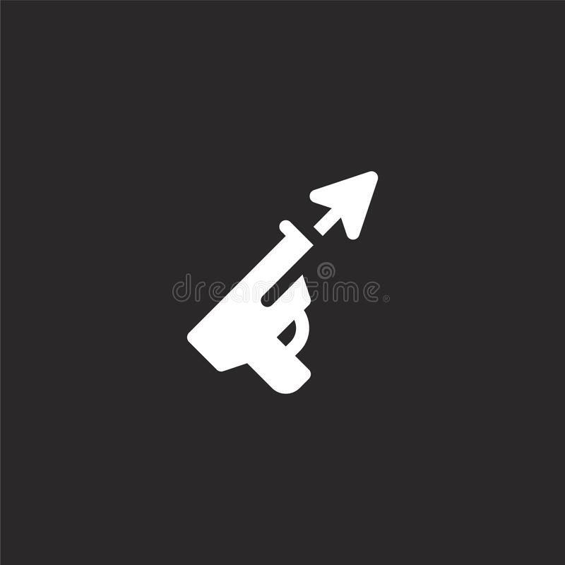 Icono de Speargun Icono llenado del speargun para el diseño y el móvil, desarrollo de la página web del app icono del speargun de stock de ilustración