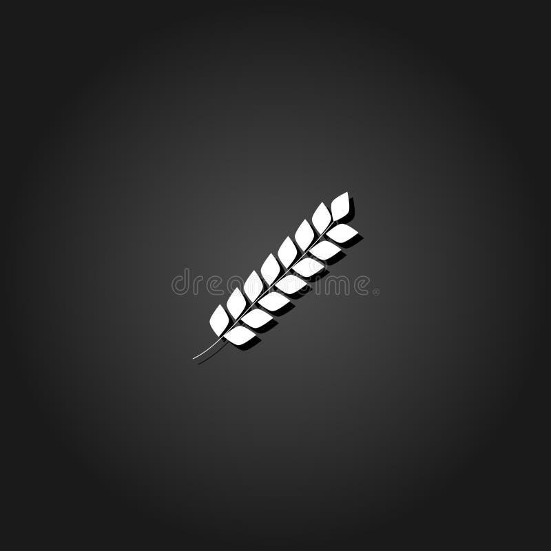 Icono de Spica plano stock de ilustración