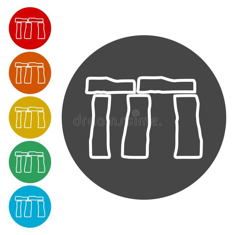 Icono de Stonehenge stock de ilustración
