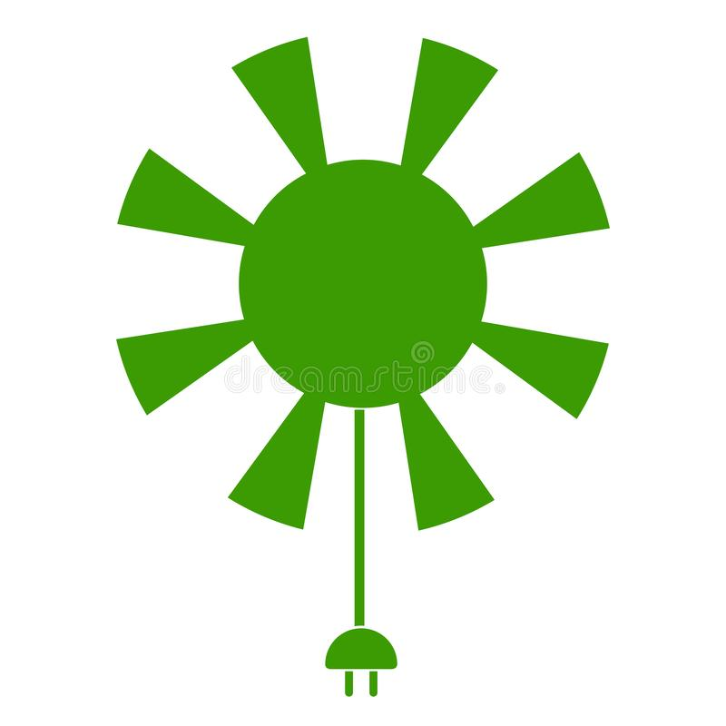 Icono de Sun con el cable actual libre illustration