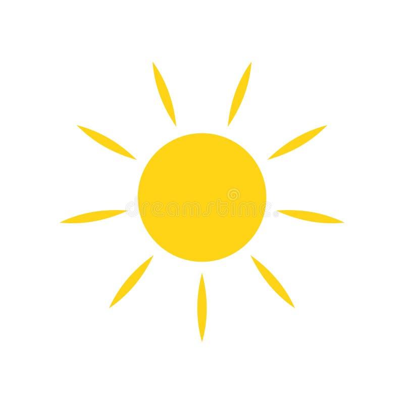 Icono de Sun en el fondo para el gr?fico y el dise?o web Muestra simple del vector S?mbolo del concepto de Internet para el bot?n fotografía de archivo