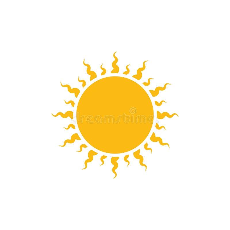Icono de Sun Icono moderno del tiempo Ejemplo plano simple del vector ilustración del vector