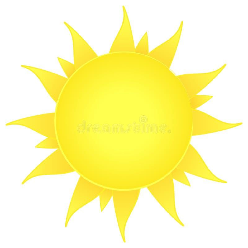 Icono de Sun. símbolo de la naturaleza. playa del verano libre illustration