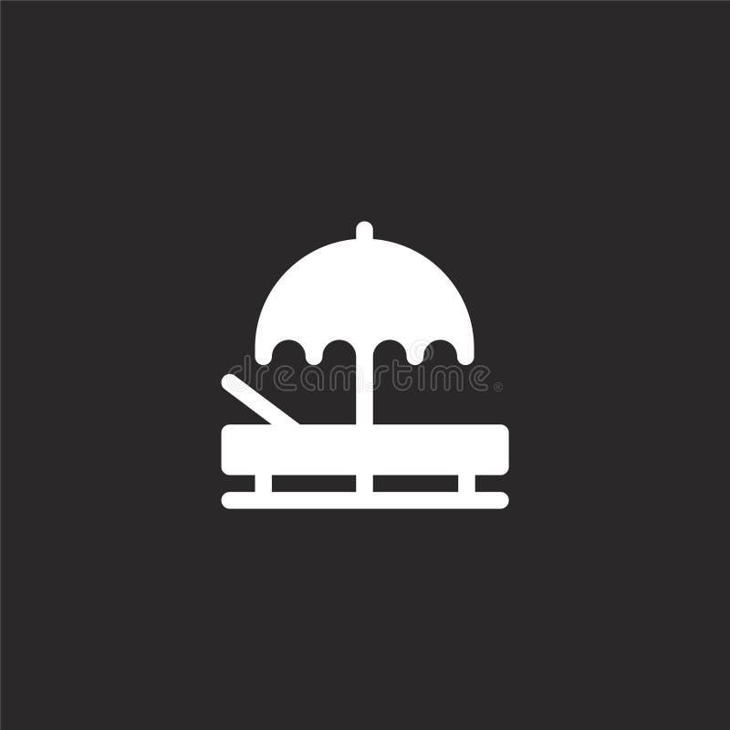 Icono de Sunbed Icono llenado de Sunbed para el diseño y el móvil, desarrollo de la página web del app Icono de Sunbed de la cole libre illustration