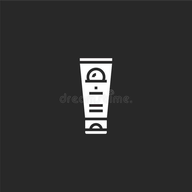 Icono de Sunblock Icono llenado del sunblock para el diseño y el móvil, desarrollo de la página web del app icono del sunblock de libre illustration
