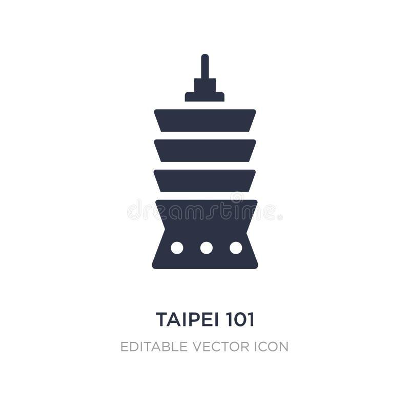icono de Taipei 101 en el fondo blanco Ejemplo simple del elemento del concepto de los monumentos ilustración del vector
