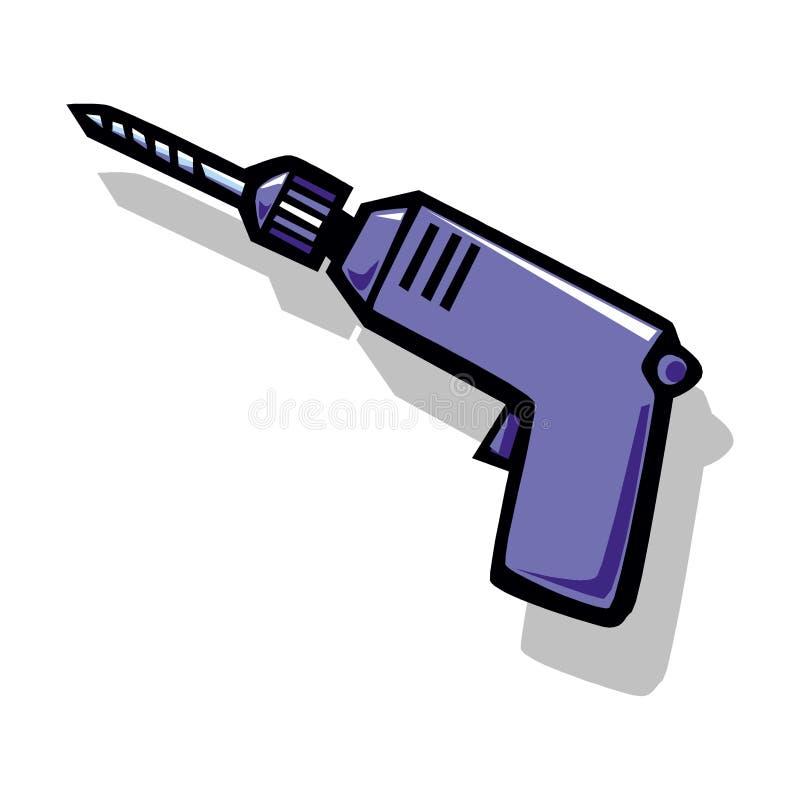 Icono de taladro aislado en un fondo blanco libre illustration