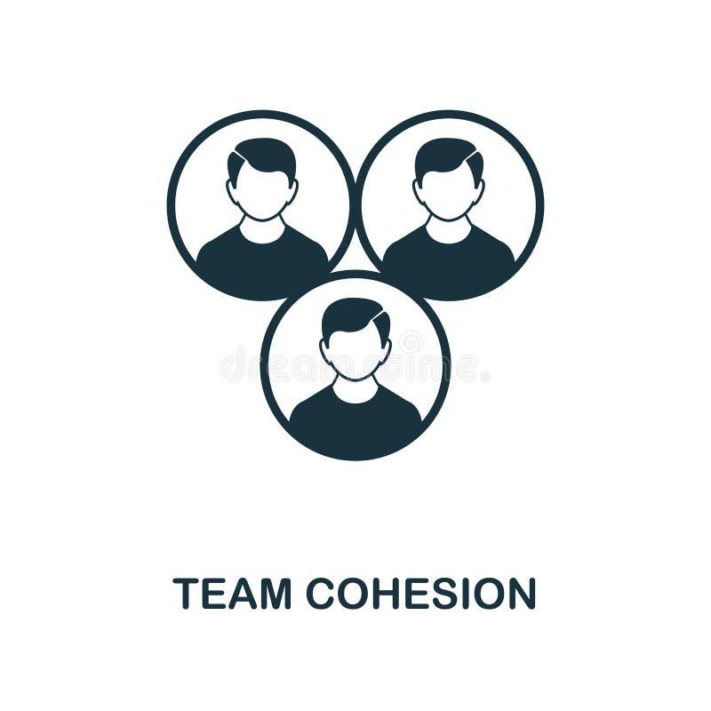 Icono de Team Cohesion Diseño monocromático del icono del estilo de la colección del icono de la gestión del proyecto Ui Ejemplo  ilustración del vector