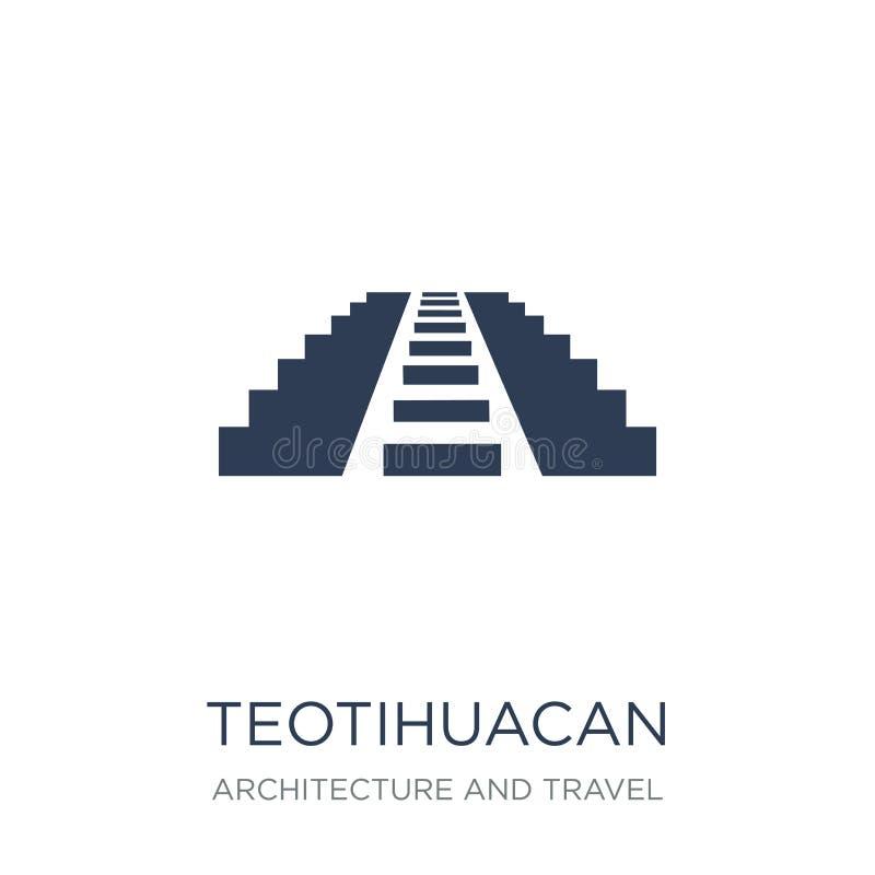Icono de Teotihuacan  stock de ilustración
