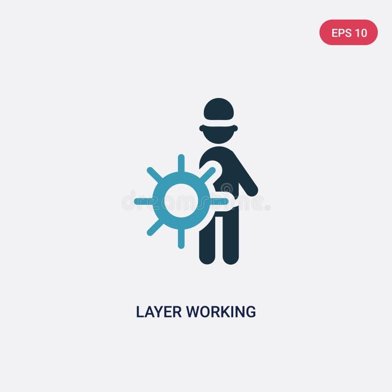 Icono de trabajo del vector de la capa bicolor del concepto de la gente el símbolo de trabajo aislado de la muestra del vector de stock de ilustración