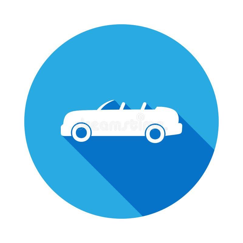 icono de tragante abierto del coche con la sombra larga Icono superior del diseño gráfico de la calidad con la sombra larga Las m ilustración del vector