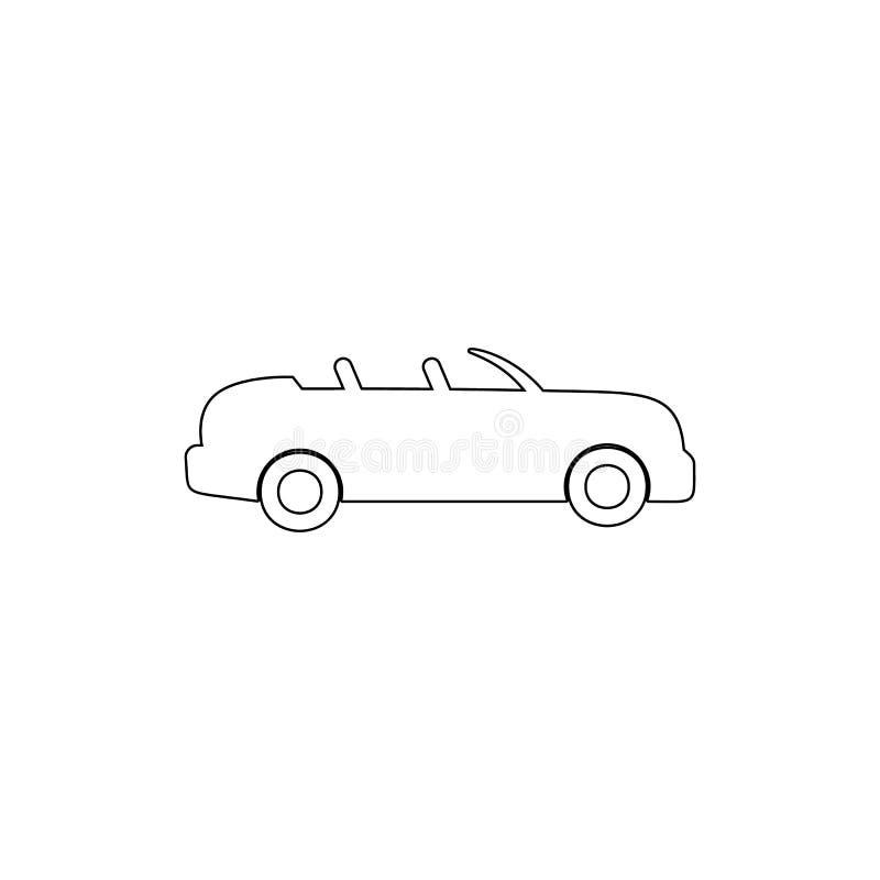 icono de tragante abierto del esquema del coche Elemento del tipo icono del coche Icono superior del dise?o gr?fico de la calidad ilustración del vector