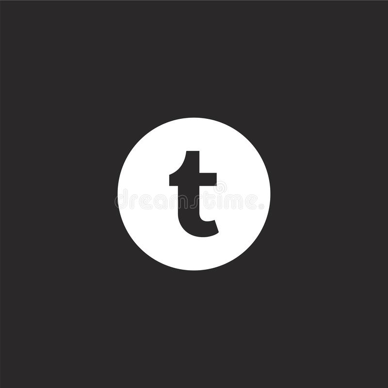 Icono de Twitter Icono llenado del gorjeo para el diseño y el móvil, desarrollo de la página web del app icono del gorjeo de la c libre illustration