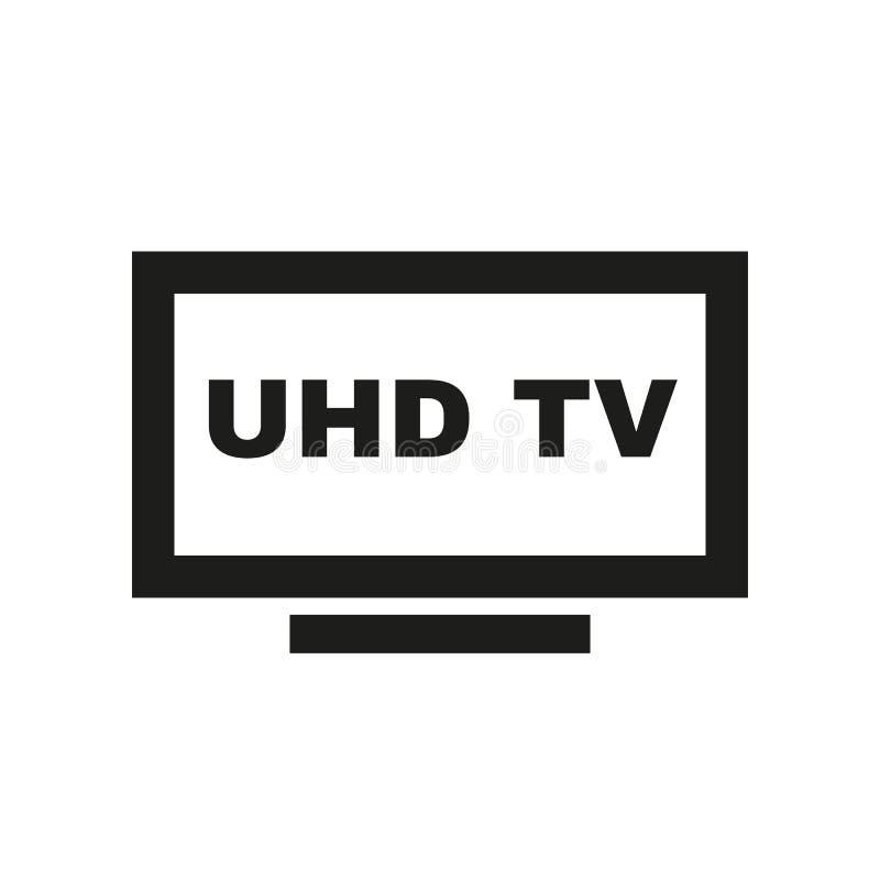 Icono de UHD TV Televisión y exhibición, símbolo del televisor Dise?o plano Acci?n - ejemplo del vector foto de archivo