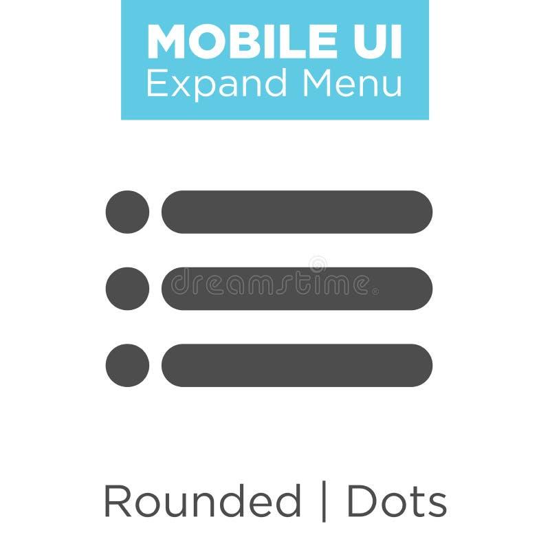 Icono de UI y de UX para el móvil o las aplicaciones web ilustración del vector