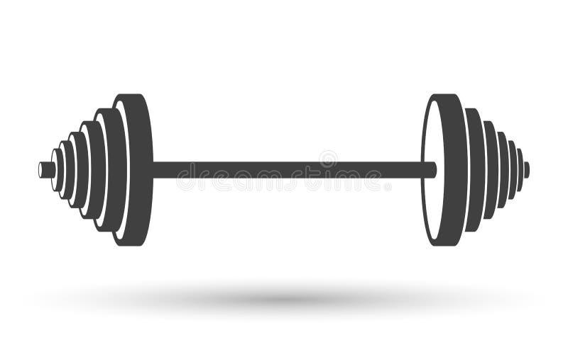 Icono de una pesa de gimnasia de los deportes Vector en el fondo blanco stock de ilustración