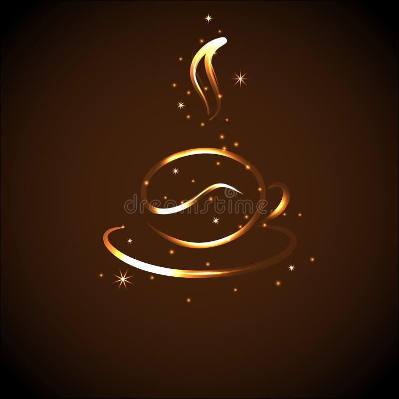 Icono de una taza de café, ejemplo del vector fotos de archivo