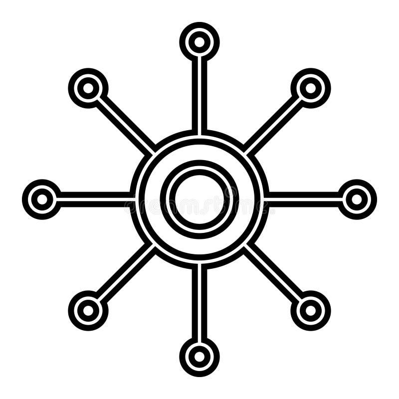 Icono de varios canales del vector Icono polivalente del ejemplo Símbolo del vector de Omnichannel ilustración del vector