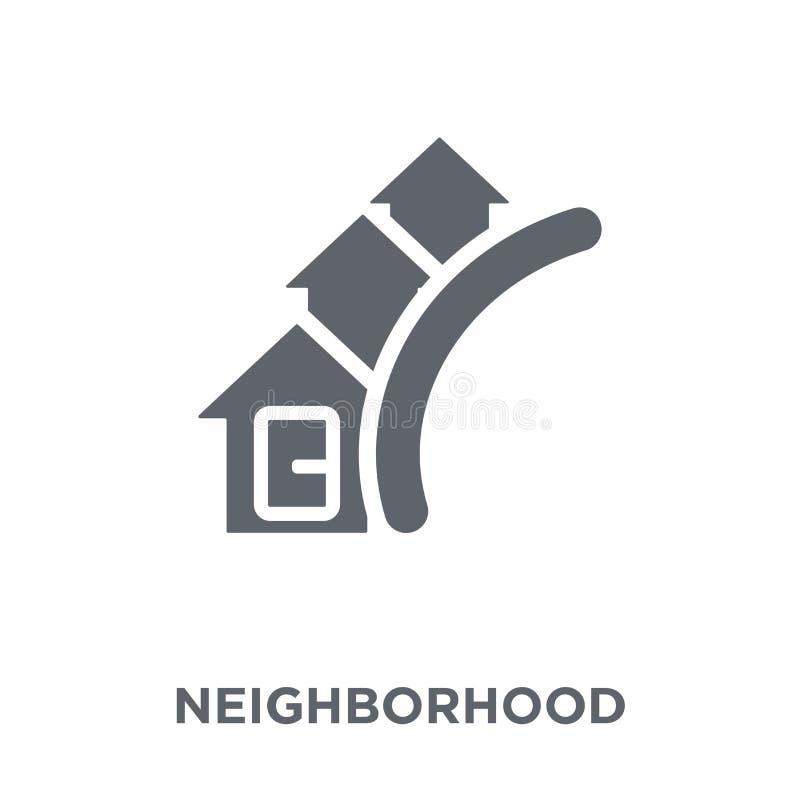 Icono de vecindad de la colección de las propiedades inmobiliarias ilustración del vector