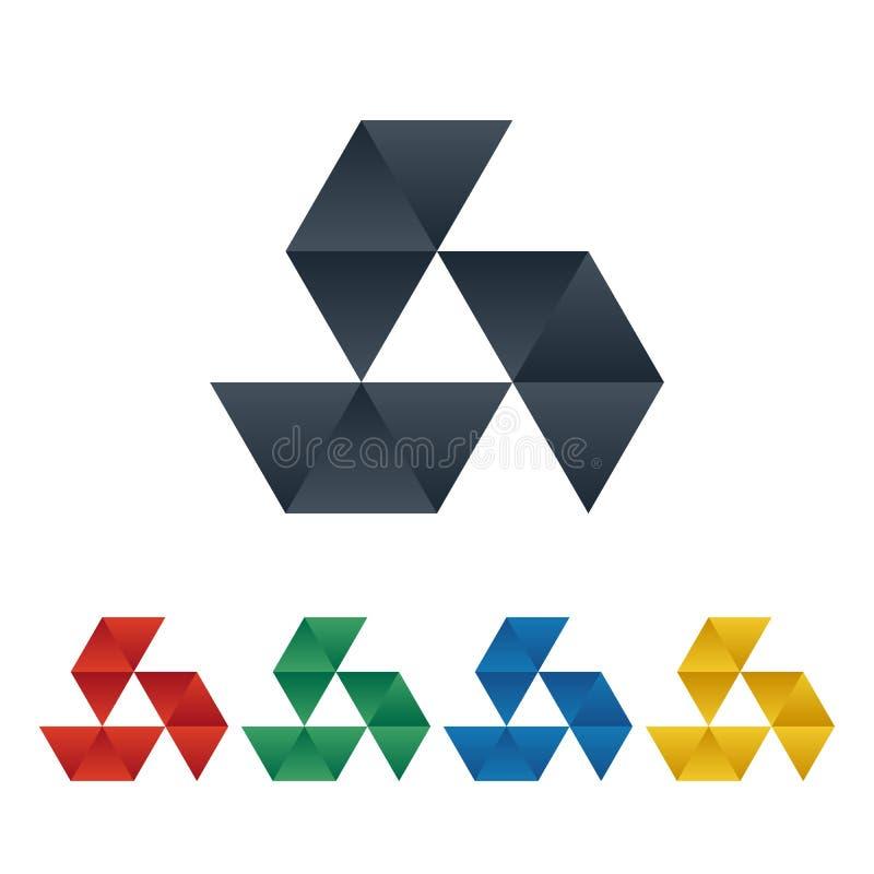 Icono de Vision con el modelo del triángulo stock de ilustración