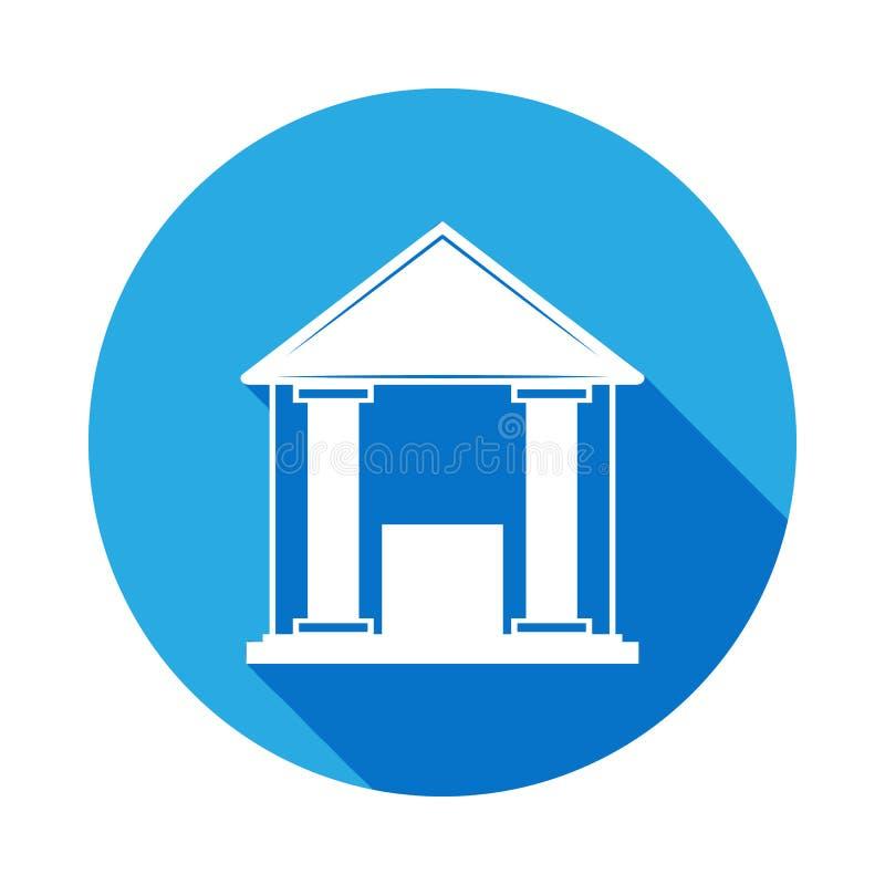 Icono de votación del edificio Elemento de la elección Las muestras y los símbolos se pueden utilizar para la web, logotipo, app  stock de ilustración