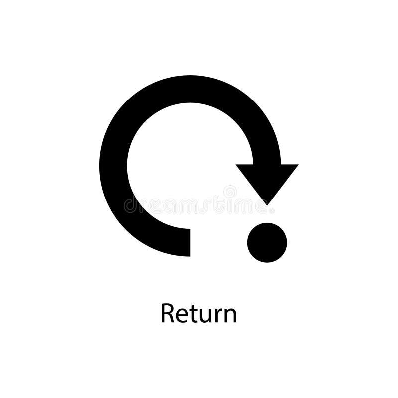 icono de vuelta de la muestra Elemento del icono minimalistic para los apps móviles del concepto y del web Muestras e icono de la stock de ilustración