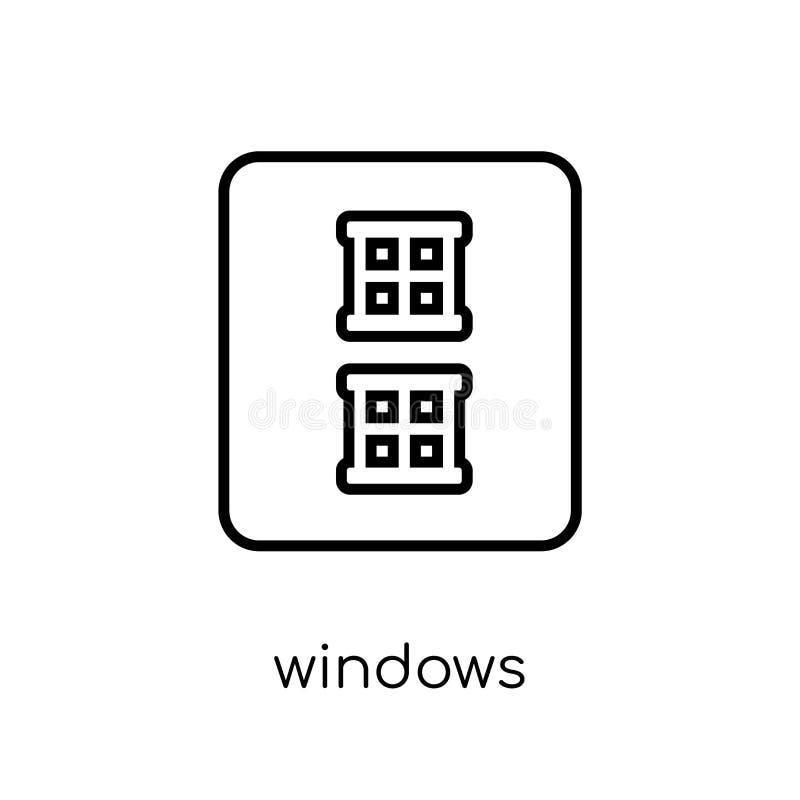 Icono de Windows Icono linear plano moderno de moda de Windows del vector en w libre illustration