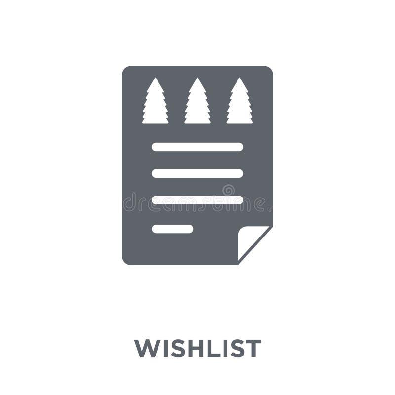 Icono de Wishlist de la colección de la Navidad libre illustration