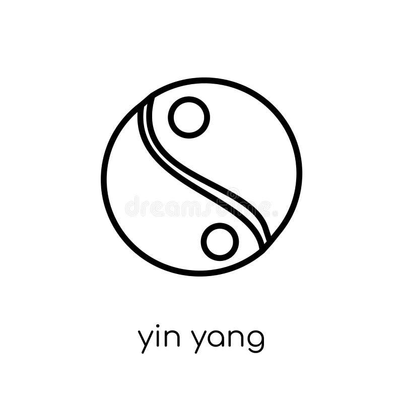 Icono de Yin Yang Icono linear plano moderno de moda de Yin Yang del vector encendido libre illustration
