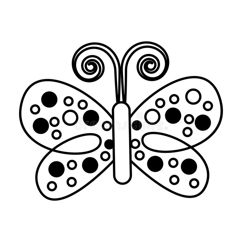 Icono decorativo de la mariposa linda ilustración del vector