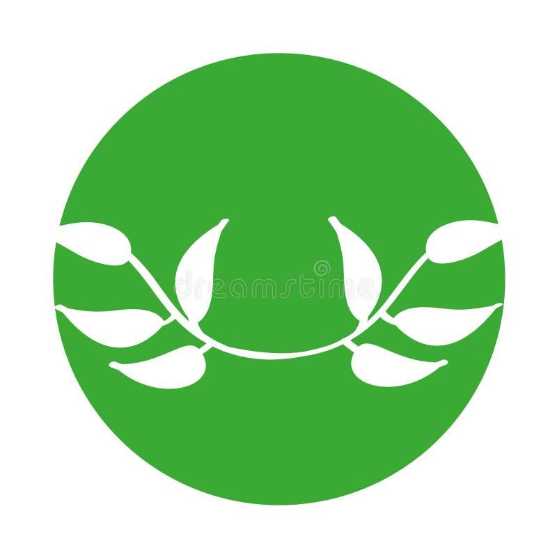 icono decorativo de la planta de la hoja ilustración del vector