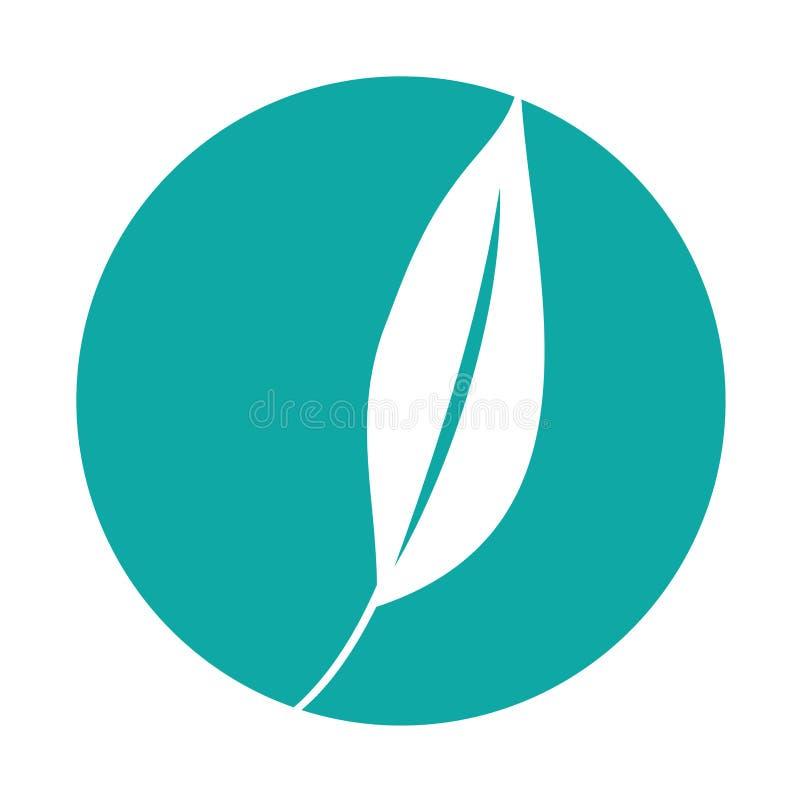 icono decorativo de la planta de la hoja stock de ilustración