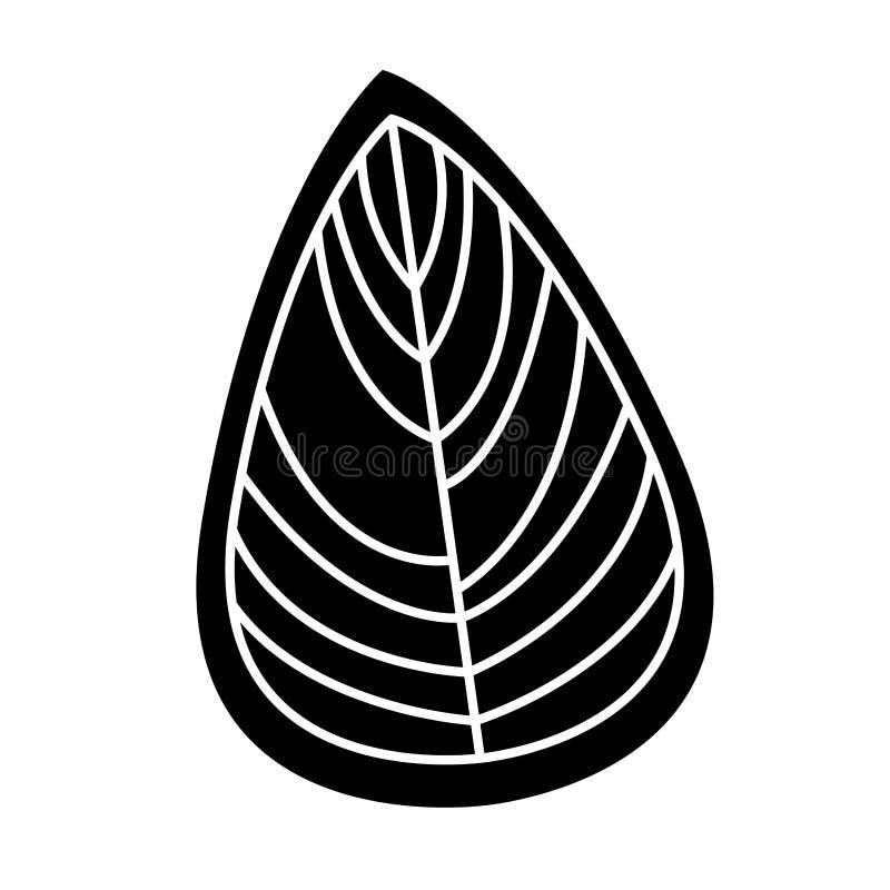 Icono decorativo del dibujo de la hoja libre illustration
