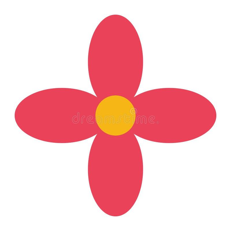 Icono decorativo mexicano de la flor ilustración del vector