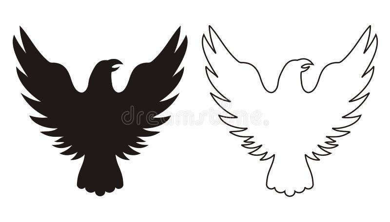 Icono del águila ilustración del vector