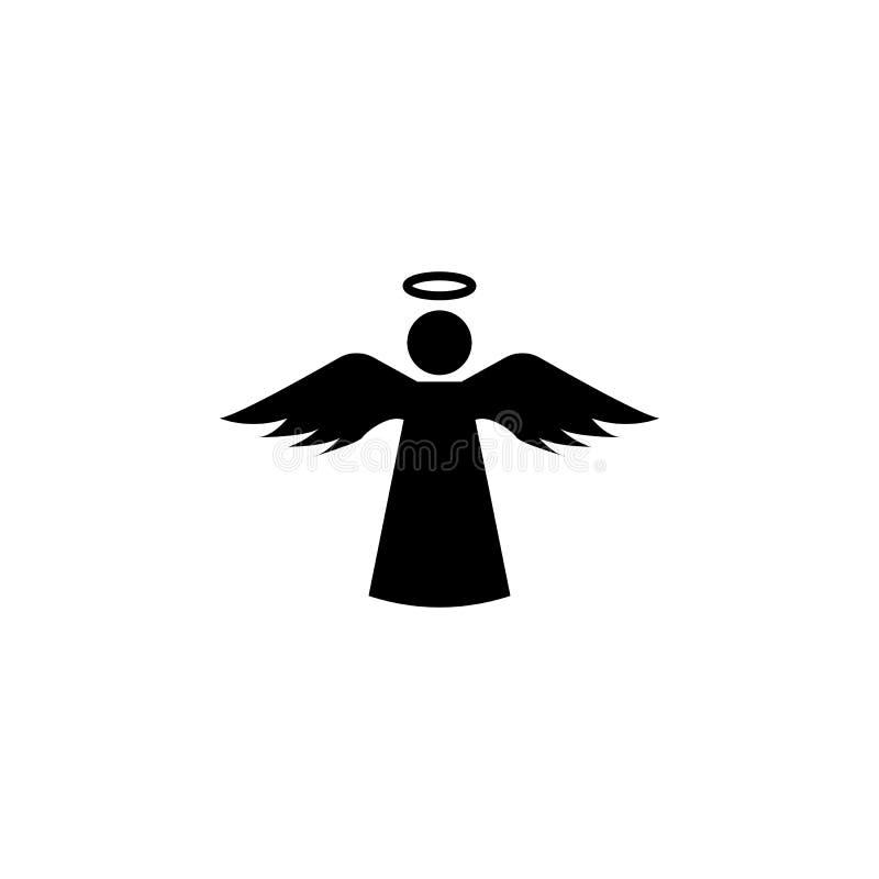 Icono del ángel con el icono santo stock de ilustración