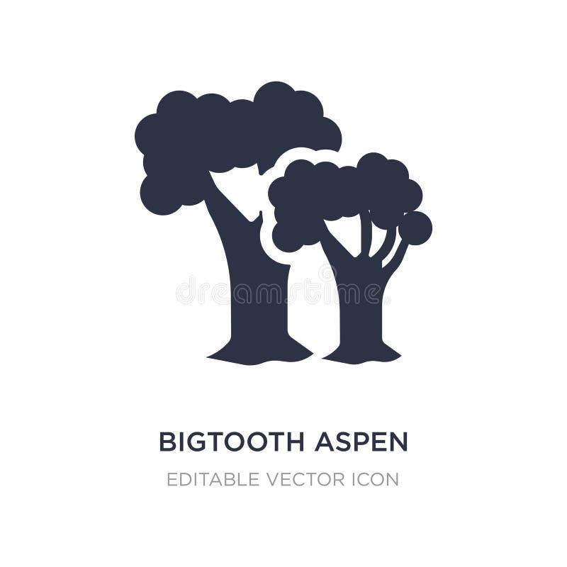 icono del árbol del álamo temblón de bigtooth en el fondo blanco Ejemplo simple del elemento del concepto de la naturaleza ilustración del vector