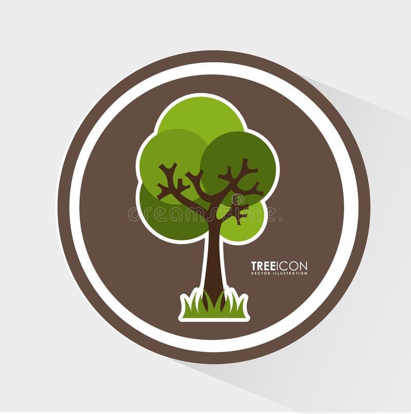 Icono del árbol stock de ilustración